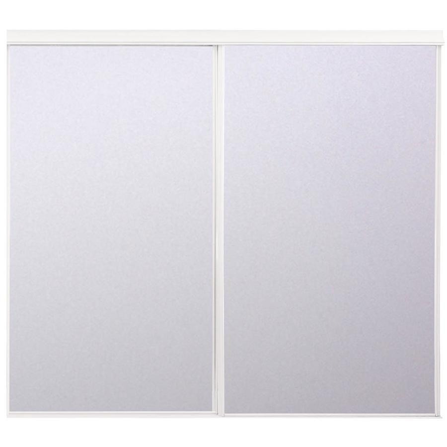 Reliabilt Reliabilt White Steel Sliding Closet Door Hardware Included Common 48 In X 80 In Actual 48 In X 78 In Lowes Com Sliding Closet Doors Reliabilt Closet Door Hardware