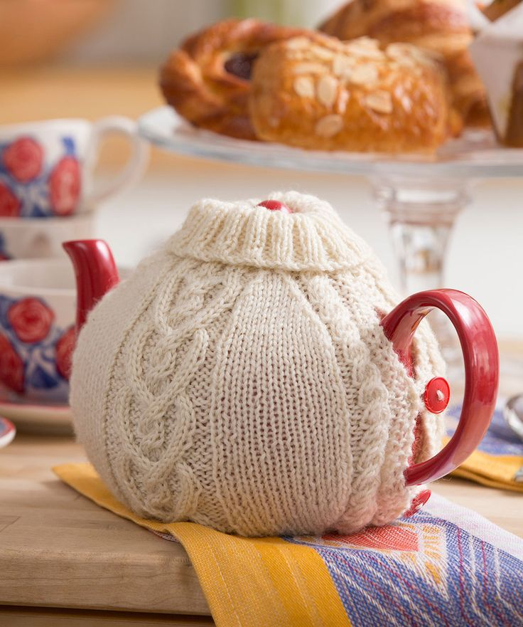 Halte dein Teewasser mit diesem süßen gemütlichen Überzug aus Wolle ...