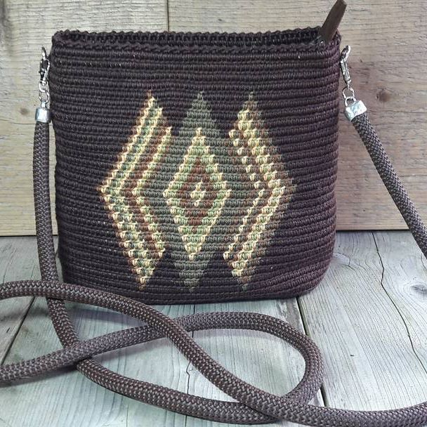 Mochila Tapestry Kralentik Cotton Katoen Bag Ovale Tas Ovaal