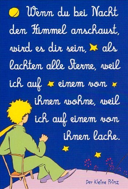 Bildergebnis für den kleinen Prinzen zitiert Trauer ...