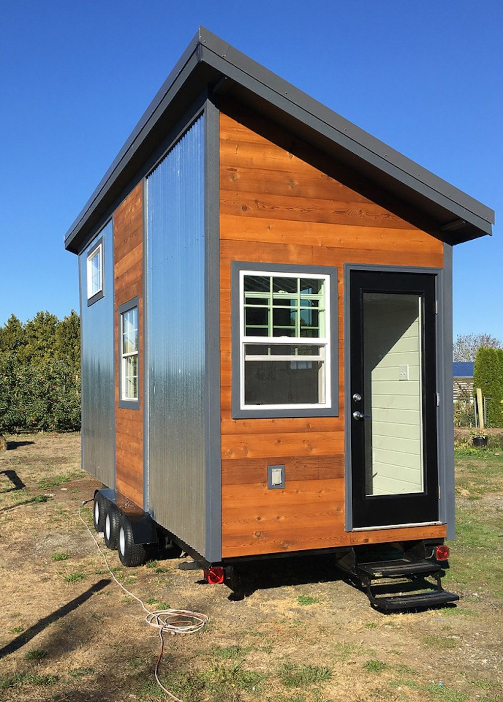 Rustic Industrial Tiny House Exterior Tiny House On Wheels