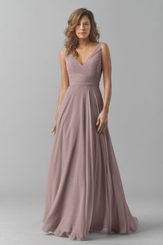 4fc337dafedf1 Shop Watters Bridesmaid Dress - 8542i in Crinkle Chiffon at Weddington Way.  Find the perfect made-to-order bridesmaid dresses for your bridal party in  your ...
