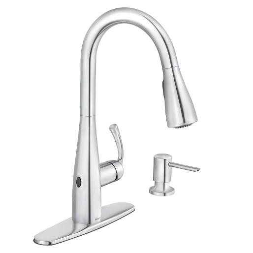Essie Motionsense Wave Chrome One Handle Pulldown Kitchen Faucet