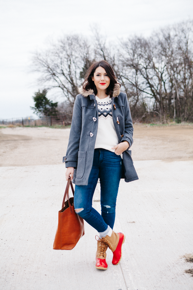 Hit the slopes in style with an Old Navy Fair Isle sweater and ...