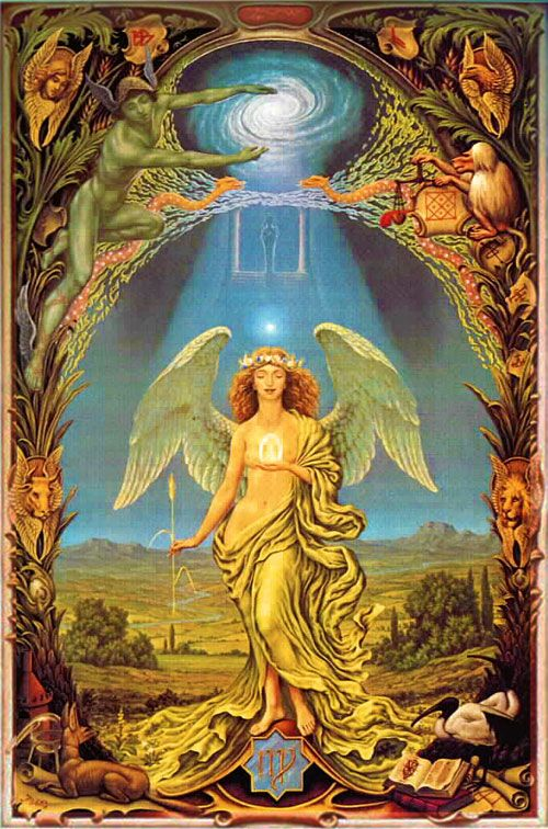 "Virgo, Earth, Mutable, 6th House, ""I Analyze"" | Zodiac art, Esoteric art,  Art"