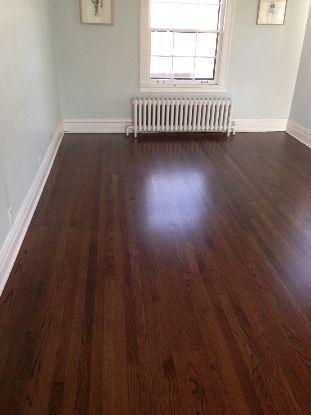 Red Oak With Dark Walnut Stain Kitchen Oak Floor