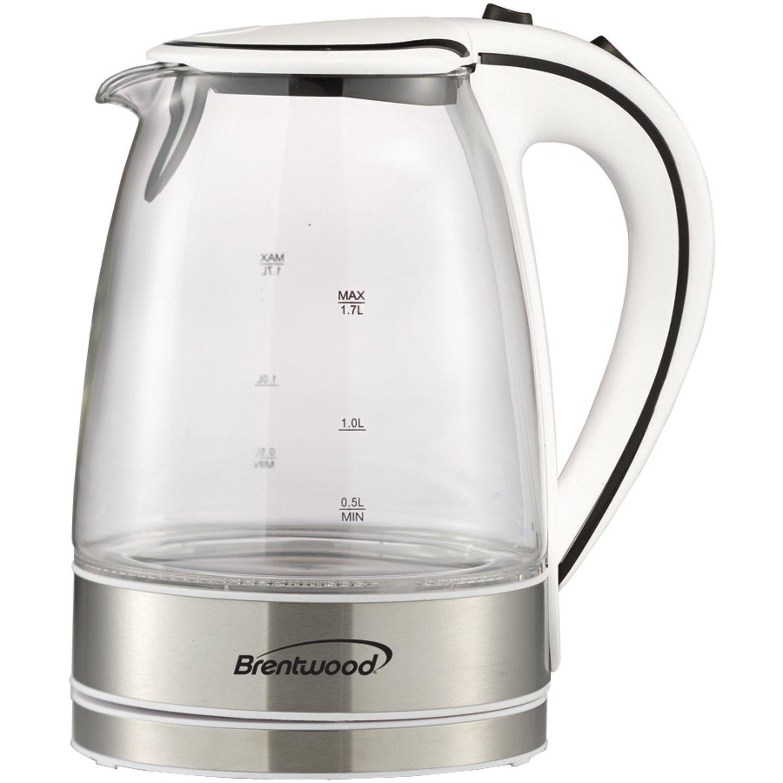 Brentwood Appliances 1 8 Qt Cordless Base Electric Tea Kettle White Kettle Kettle Kitchen