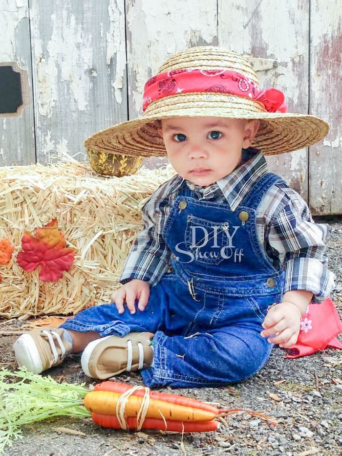 diy baby farmer costume - Diy Halloween Baby Costumes