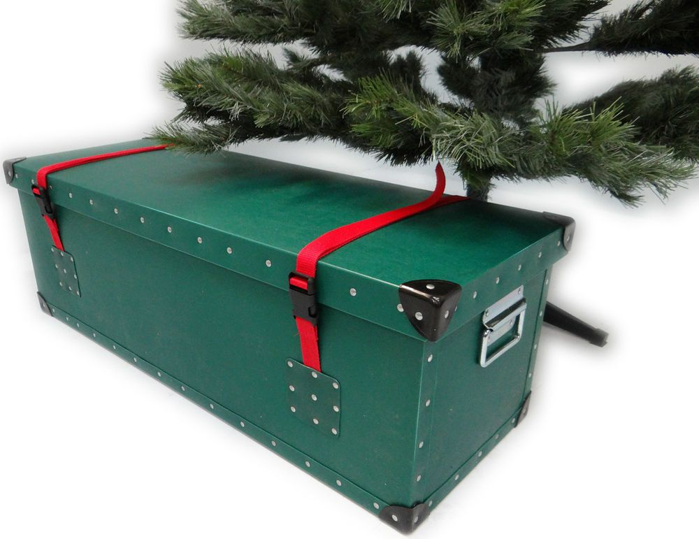 Christmas Tree Storage Box Container Case Made in UK  sc 1 st  Pinterest & Details about Artificial Christmas Tree Luxury Storage Box Container ...