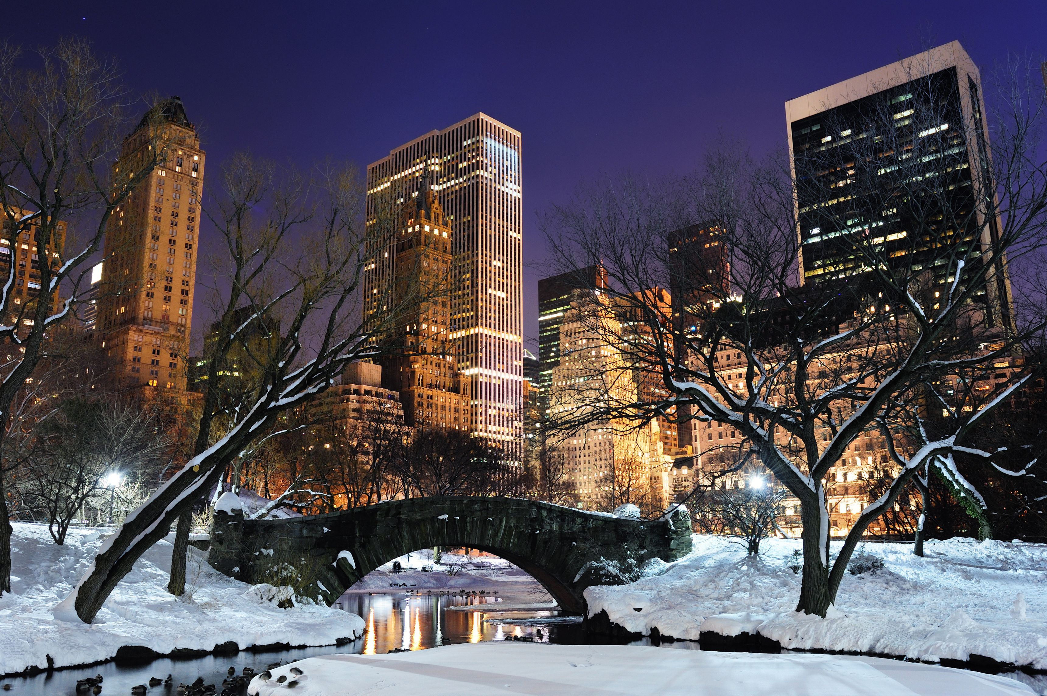 New York Winter Night Desktop Wallpaper Hd 3440x2289px New York City Manhattan Central Park Winter Winter Destinations