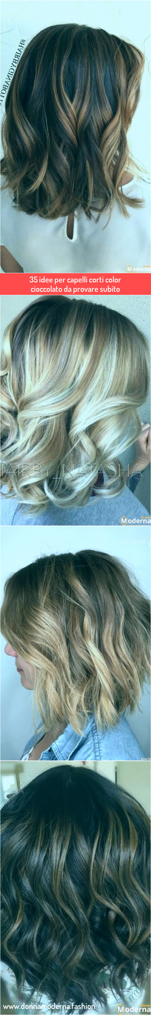35 idee per capelli corti color cioccolato da provare ...