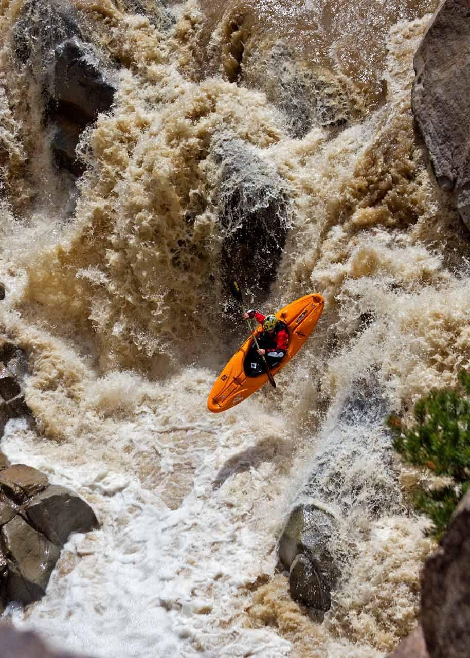Catching big air on Escalante Creek near Montrose