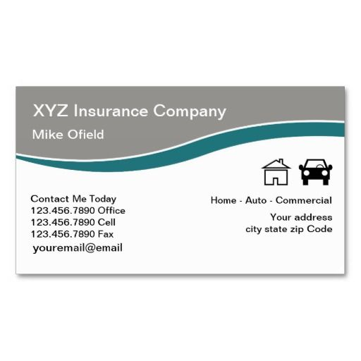 Multi Line Insurance Agent Business Card Zazzle Com In 2020