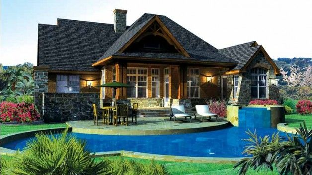 Mountainside Majesty - Home Plan HOMEPW09962 - 2091 Square Foot, 3 ...