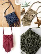 Monedero de macramé: 12 ideas para hacer tu bolso ⋆ Facing The Sea 12 I …
