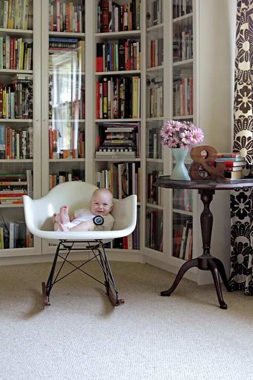 Five Months Old August S Monthly Photo Making It Lovely Home Libraries Ikea Billy Bookcase Bookcase