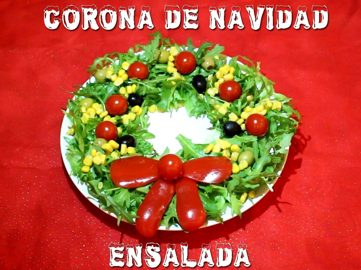 Como decorar una corona navide a con ensalada christmas for Decoracion de ensaladas
