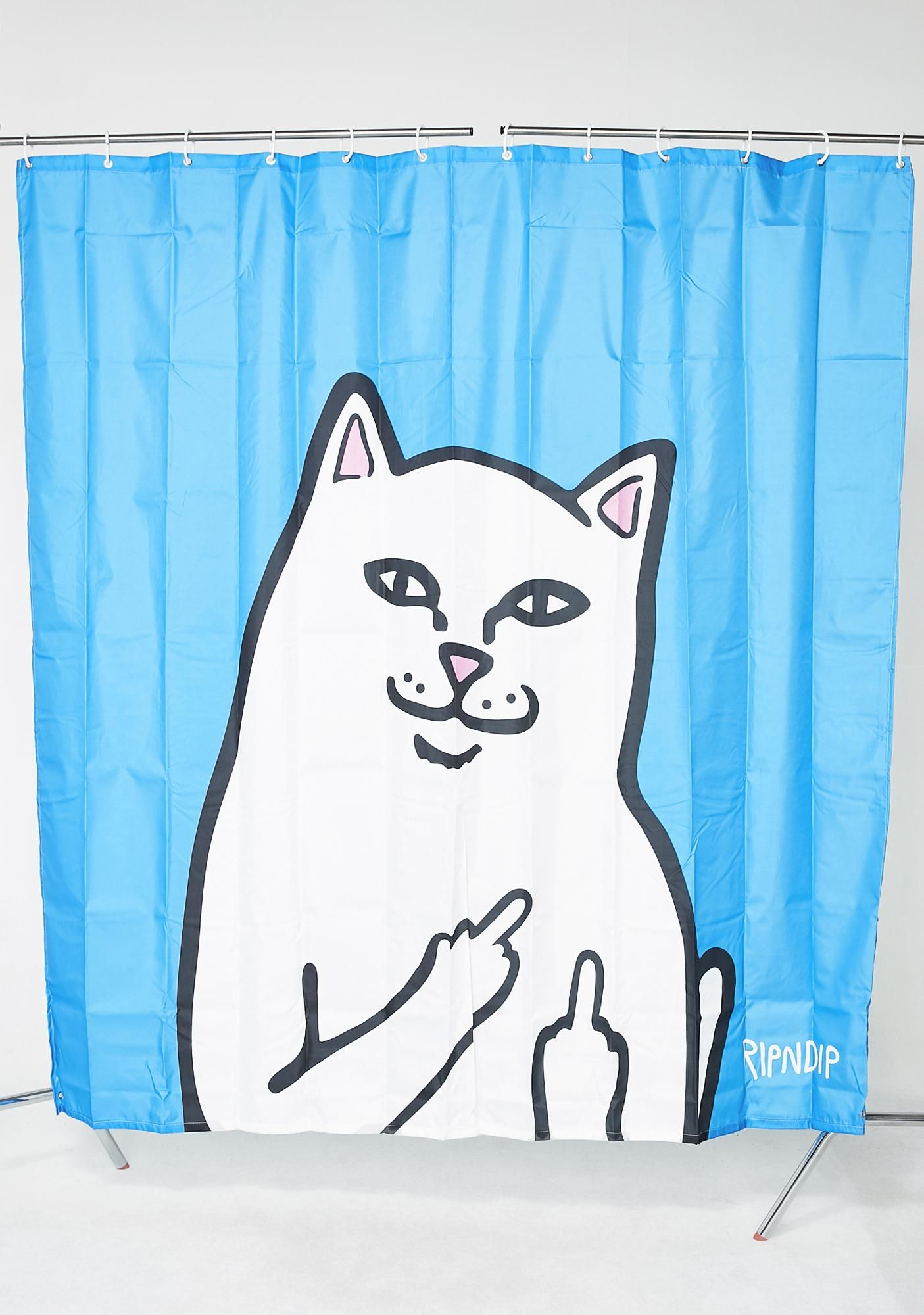 Lord Nermal Shower Curtain Blue Bags Shower Curtain Graphic