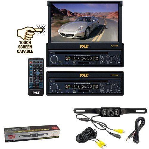 """Flush Mount Night Vision BackUp Camera,7/"""" Touch Mp3 CD Bluetooth AM FM Receiver"""