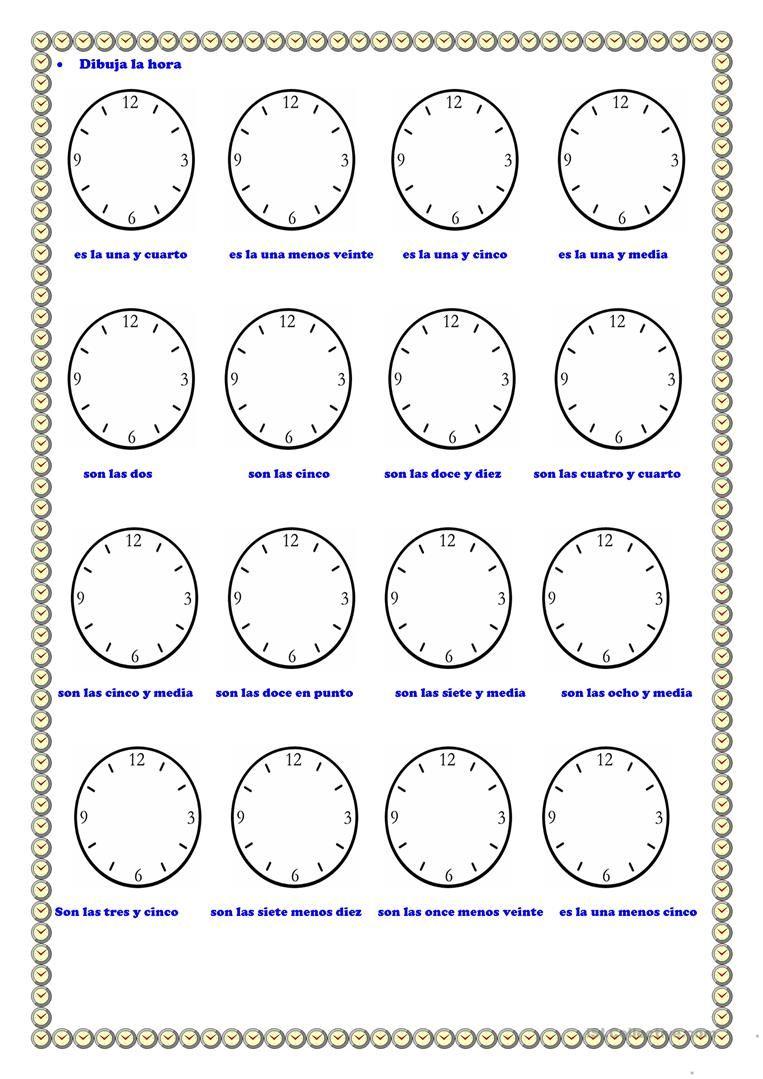 aprenderlashoras spanish for kids spanish classroom math for. Black Bedroom Furniture Sets. Home Design Ideas