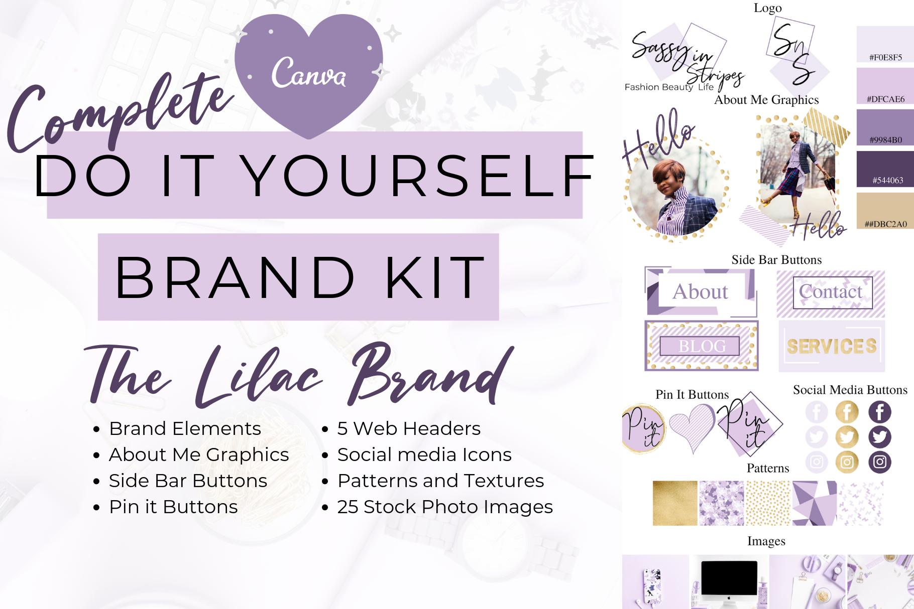 The Lilac Branding Kit Branding kit, Brand names, logos