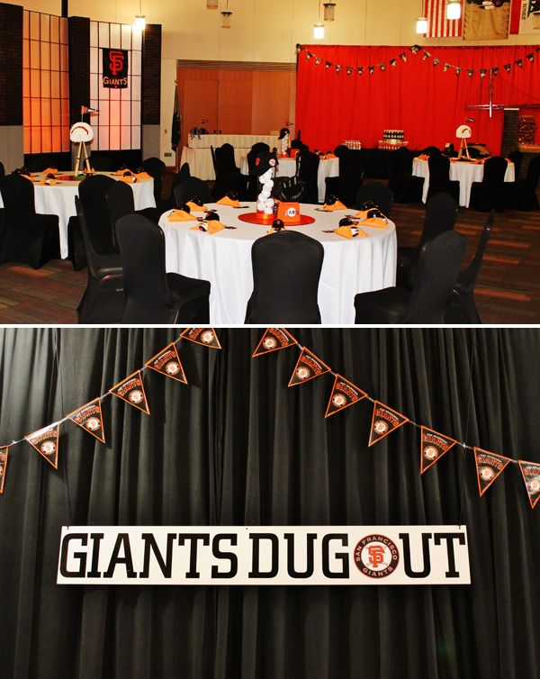 Giants Themed Baseball Birthday Party I LOVE THIS Idea Surprise 30th