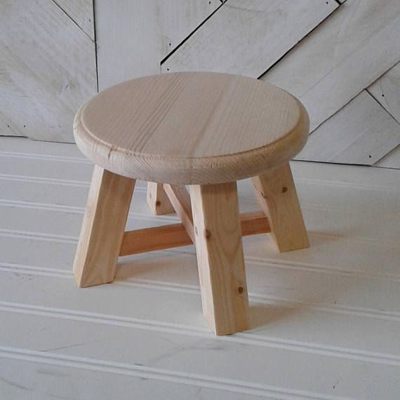 Peachy Small Unfinished Plant Stand Stool Six Inch Diameter Too Customarchery Wood Chair Design Ideas Customarcherynet
