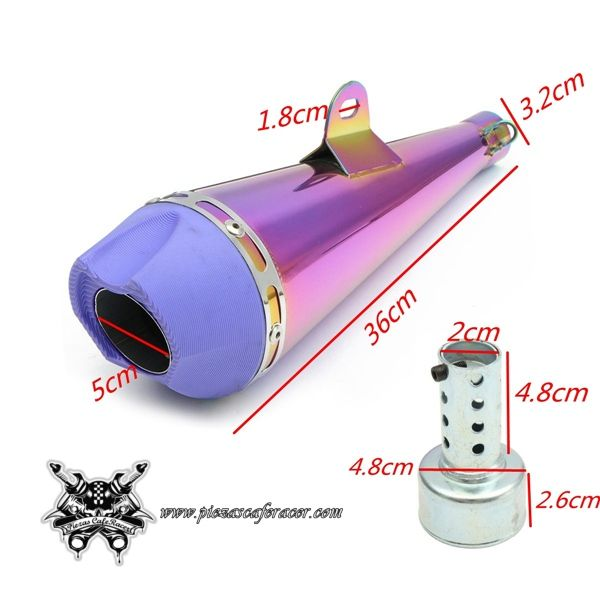 703f386a Escape Universal para Moto 32mm Modelo WhTIS + DB Killer + Soportes Color  Rosa/Azulado