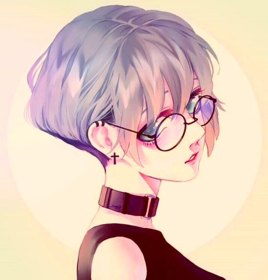 Glasses Are So Cute Anime Art Girl Anime Drawings Anime Art