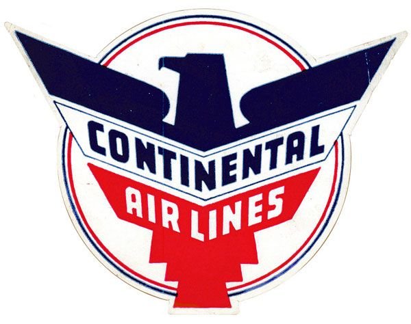 Continental Airlines | Identity | Vintage luggage, Vintage ...