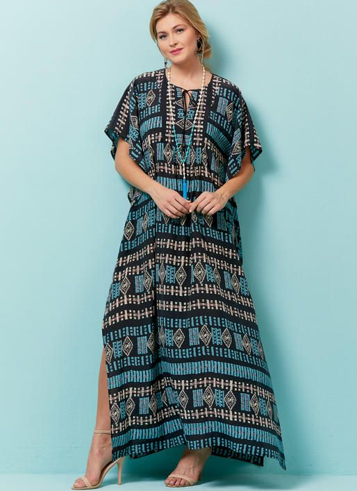 Butterick B6559 Misses\' Top, Tunic And Caftan #sewingpattern | Maxi ...