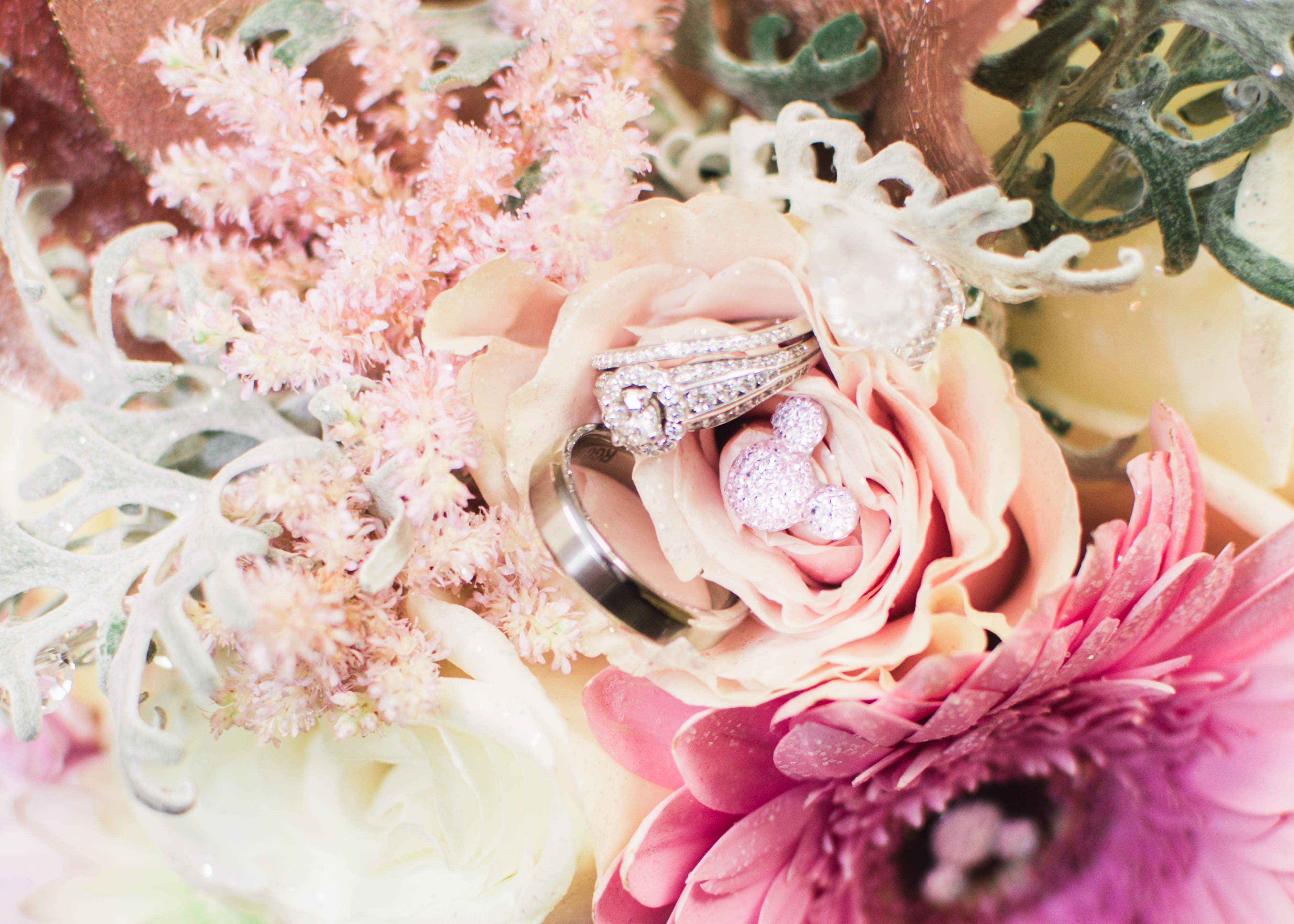 Wedding flowers Hidden Mickey Disney wedding Blush pink ...