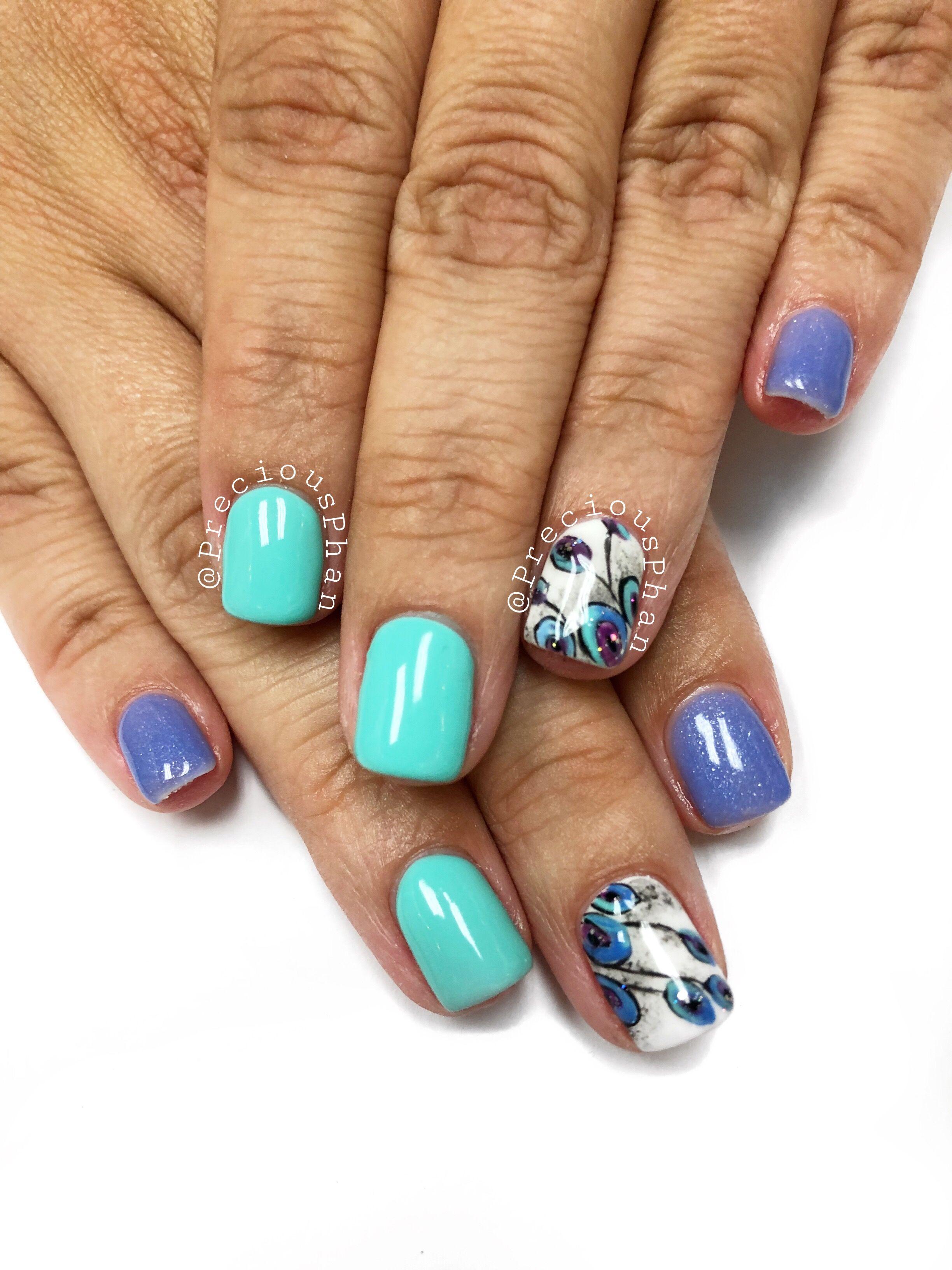Peacock nails. Lechat colors. #PreciousPhan | Peacock ...