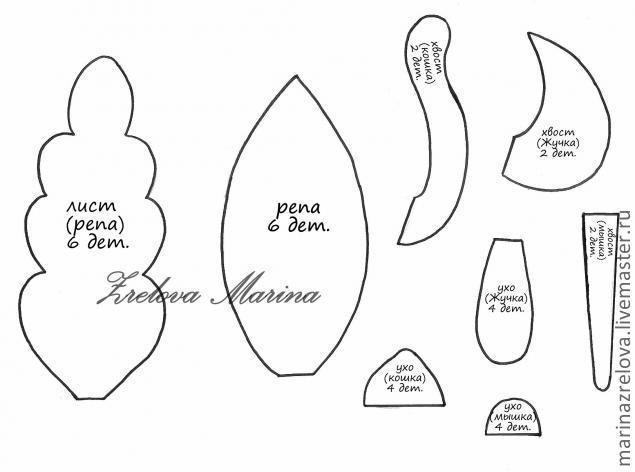 d9756d660e95 Сказка «Репка» + выкройка (Шьем игрушки) — Журнал Вдохновение Рукодельницы