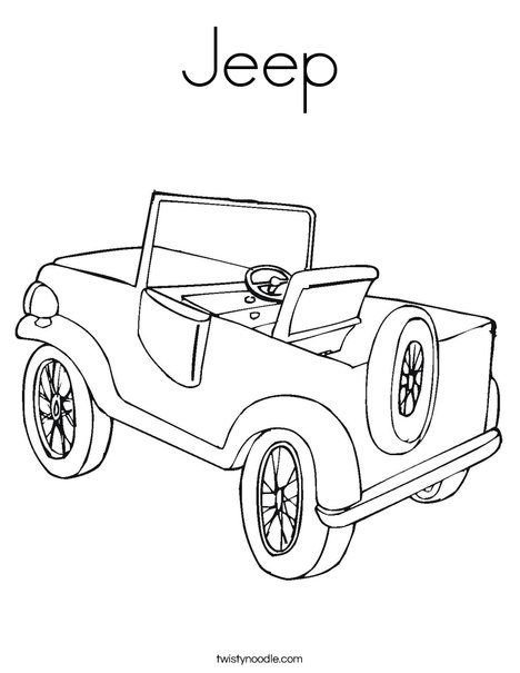 J Free Printable Jeep Coloring Page Jeep Preschool Themes
