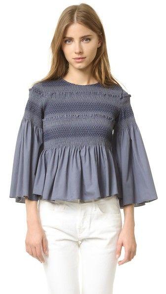d56ad49b24 SEE BY CHLOÉ Smocked Blouse.  seebychloé  cloth  dress  top  shirt  sweater   skirt  beachwear  activewear