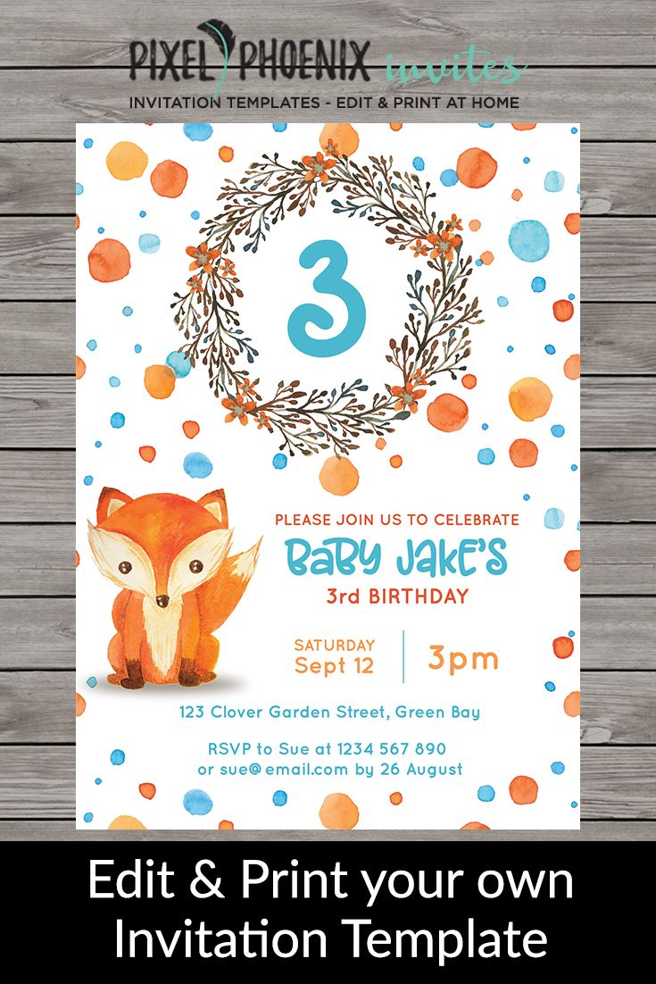 children s birthday invite kid s birthday invite baby birthday