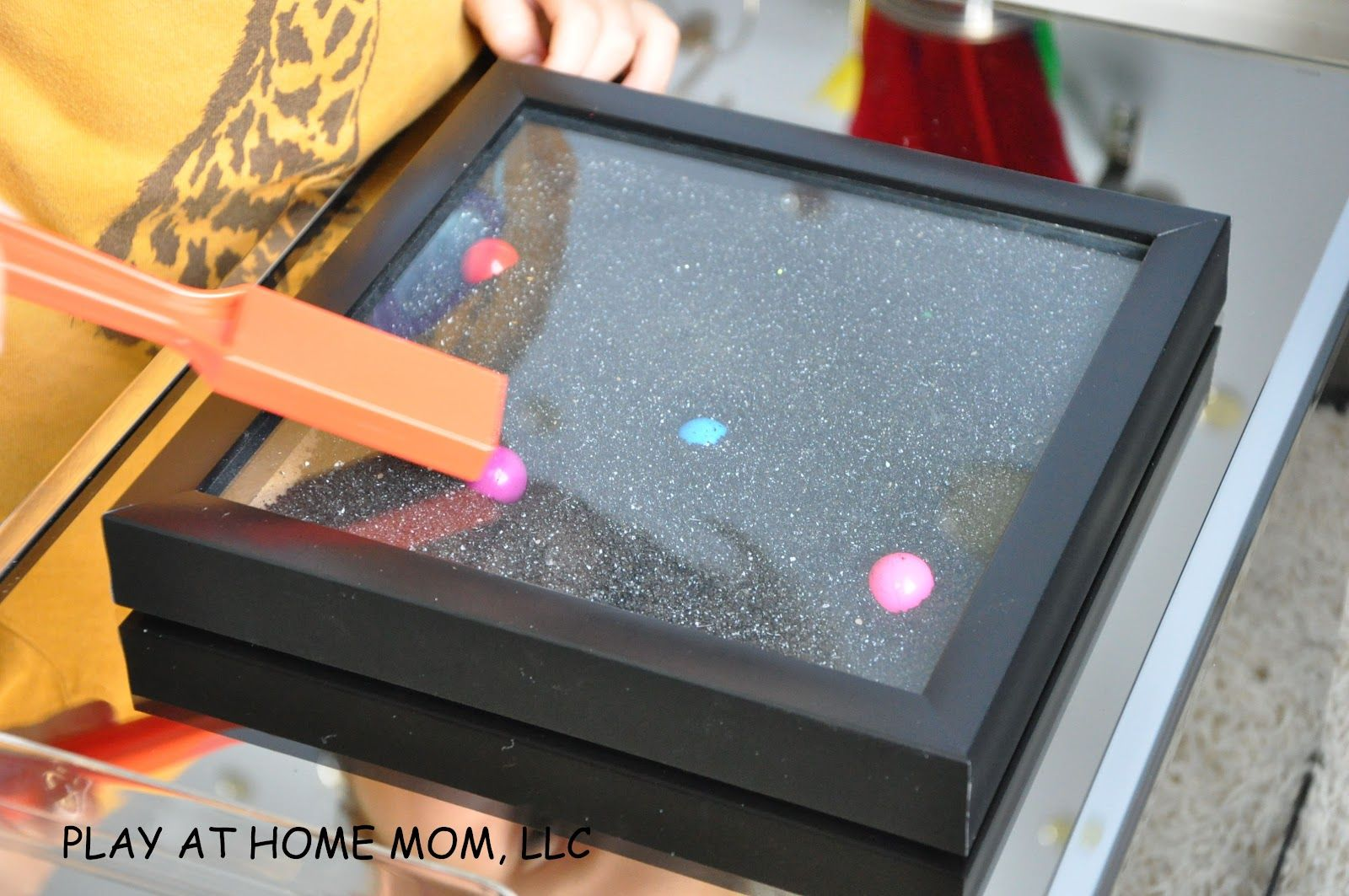 Another Excellent Idea For Magnetic Play A Shadow Box Or