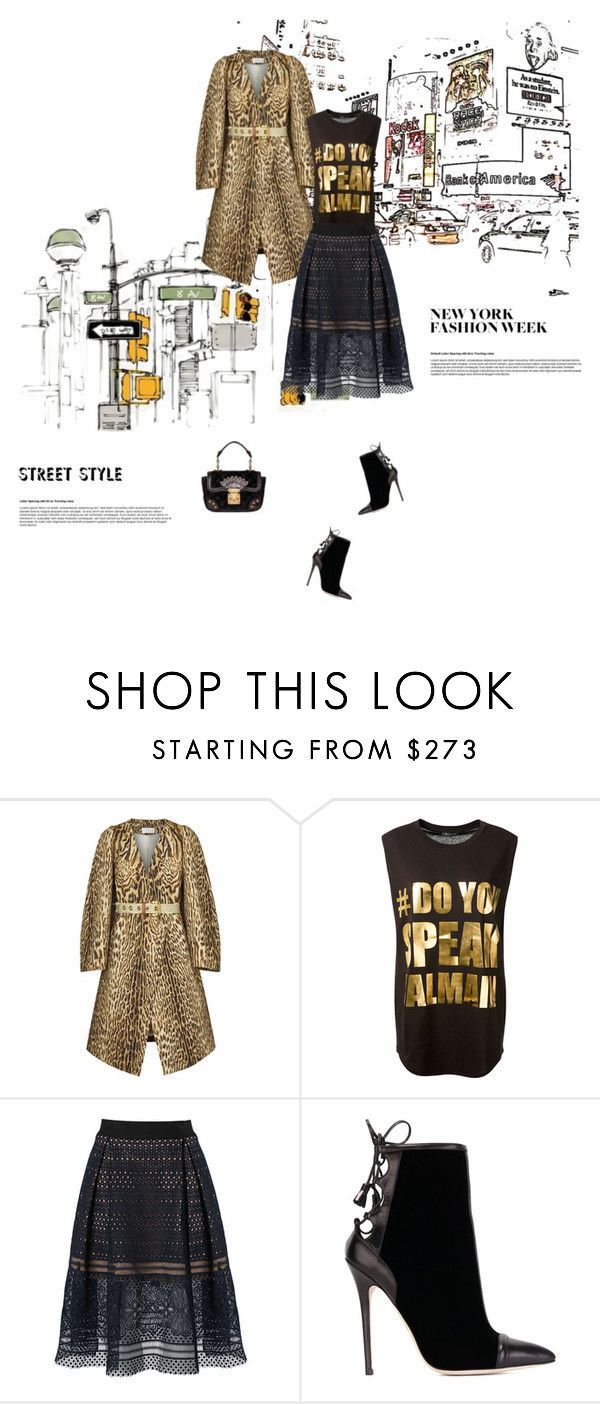 """""""Day Three: The Best NYFW Street Style"""" by maitepascual ❤ liked on Polyvore featuring Chloé, Balmain, self-portrait, Brian Atwood, Louis Vuitton, women's clothing, women, female, woman and misses"""