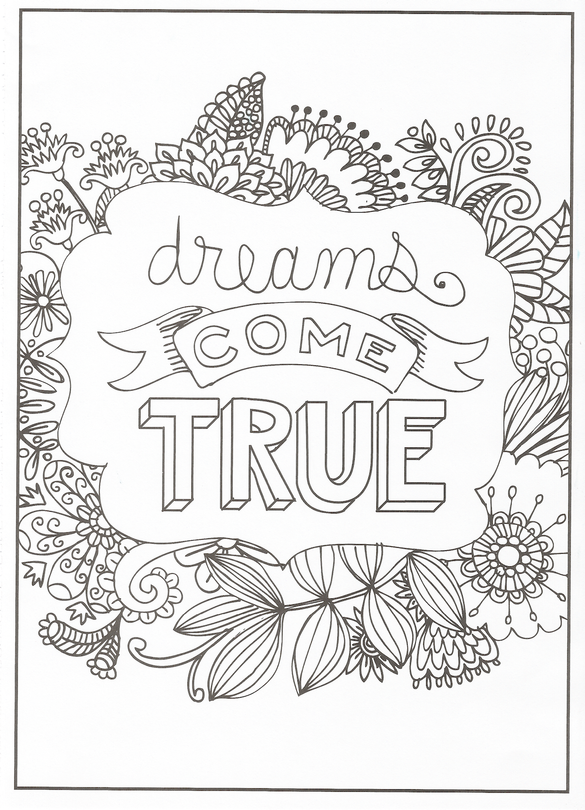 Timeless Creations Creative Quotes Coloring Page Dreams Come True Coloring Pages Quote Coloring Pages Creativity Quotes