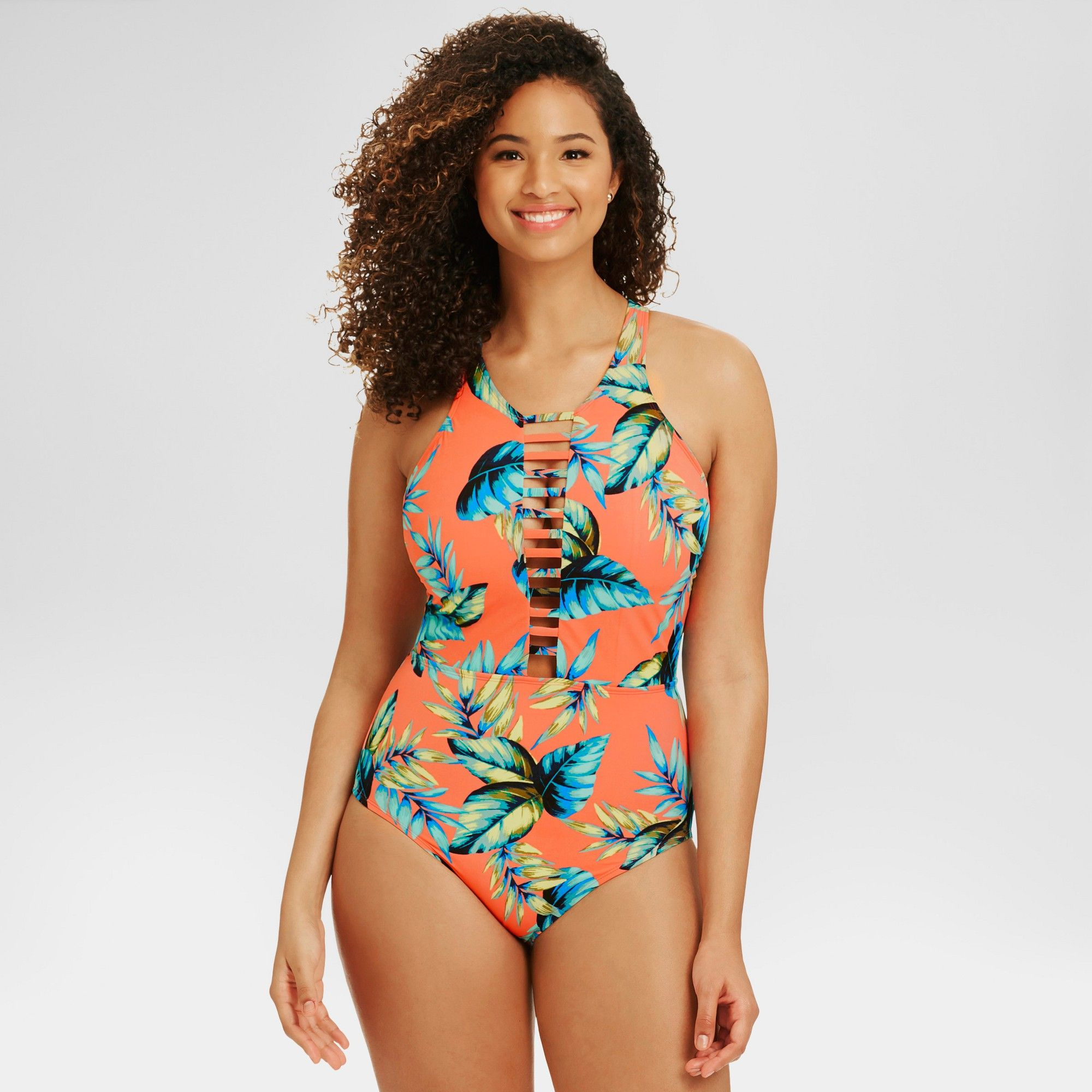 bd6d547b60 Beach Betty by Miracle Brands Women s Slimming Control Tropical High Neck  One Piece - Multi-Colored S