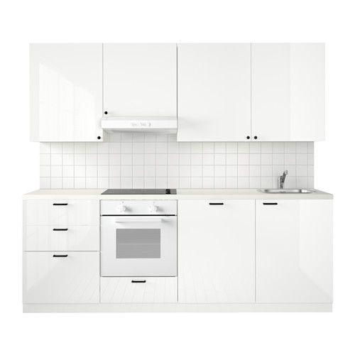 METOD Küche, weiß Maximera, Voxtorp hellbeige - küchenzeile hochglanz weiß