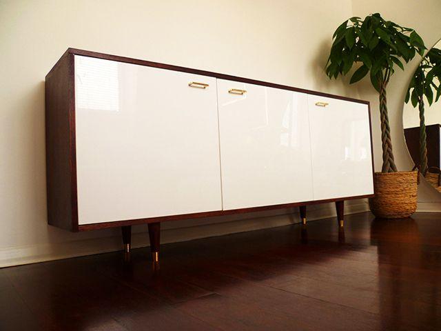 Credenza Ikea Besta : Diy mid century style credenza preciously me living room