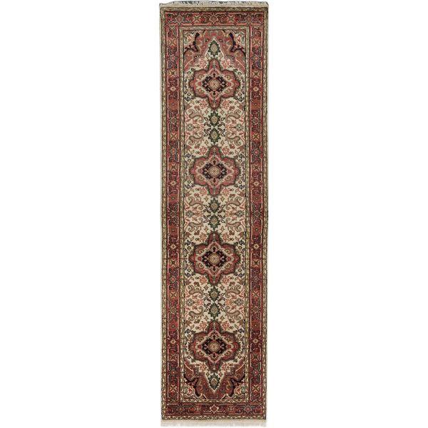 ecarpetgallery Serapi Heritage Beige/ Red Wool Rug (2'6 x 9'10)
