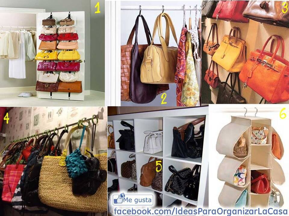 Organizar vestidor bolsos ideas trucos pinterest organizar ideas para organizar y orden - La casa de los bolsos ...