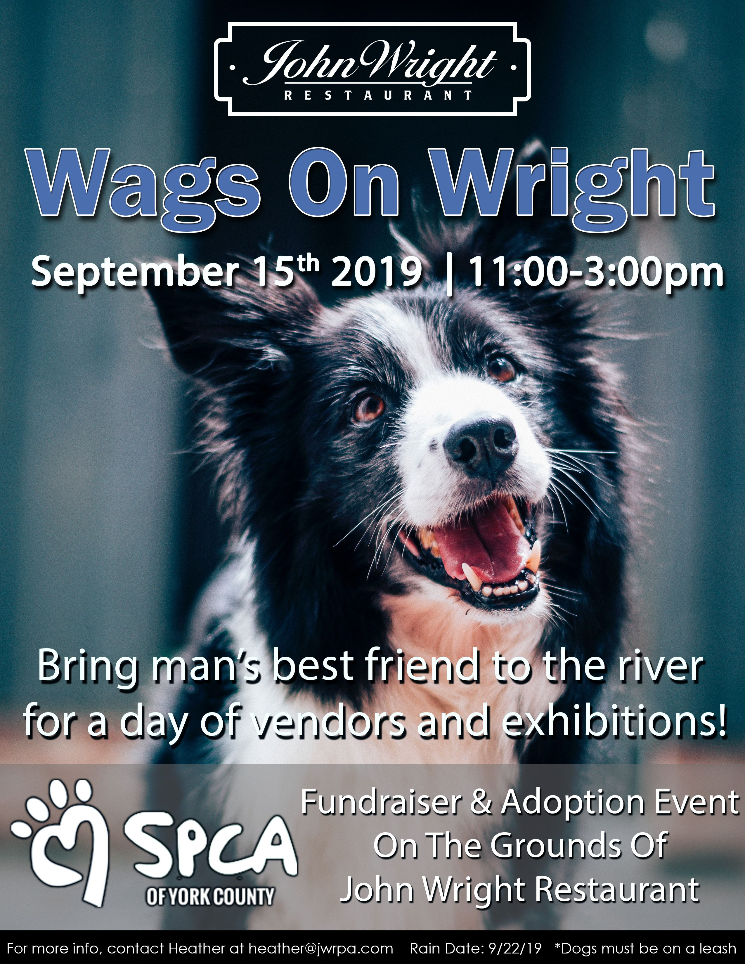 Bring mans best friend to the river for a day of vendors