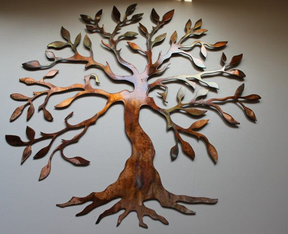 Olive Tree Tree Of Live Metal Wall Art By
