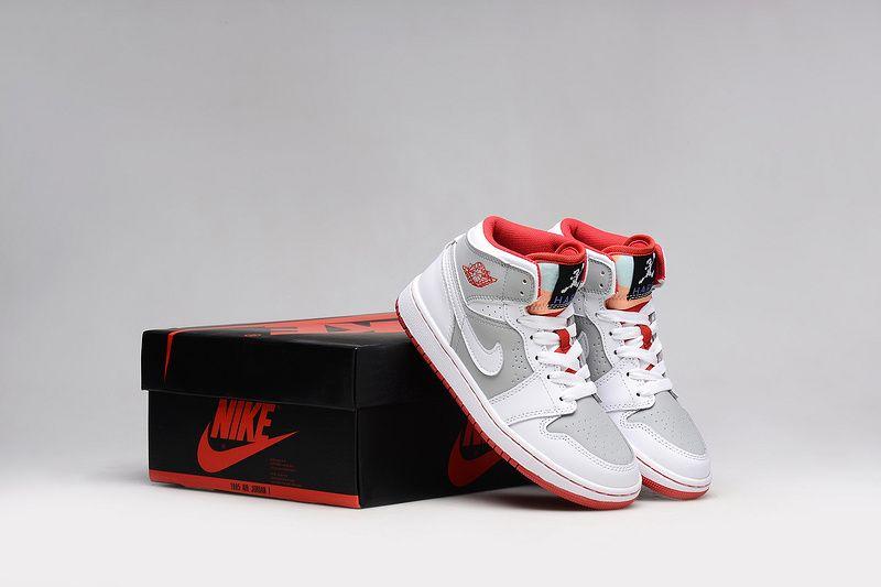 48210023845cbe Cheap Air Jordan 1 GS 2018 Retro Hare Bugs Bunny White Infrared Grey For  Sale