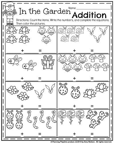 Kindergarten Worksheets for May Kindergarten math