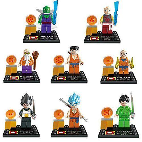Figures Dragon Ball Z 8pcs Minifigures Son Goku Fits Lego Building Block Toys Http Www Amazon Com Dp B01edp8tg4 Ref Cm Sw R Pi A Dragones Figurin Miniaturas